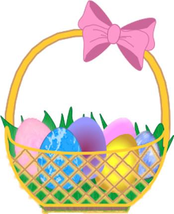 Easter basket eggs clip art.
