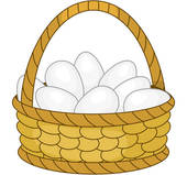 Basket of eggs clipart.