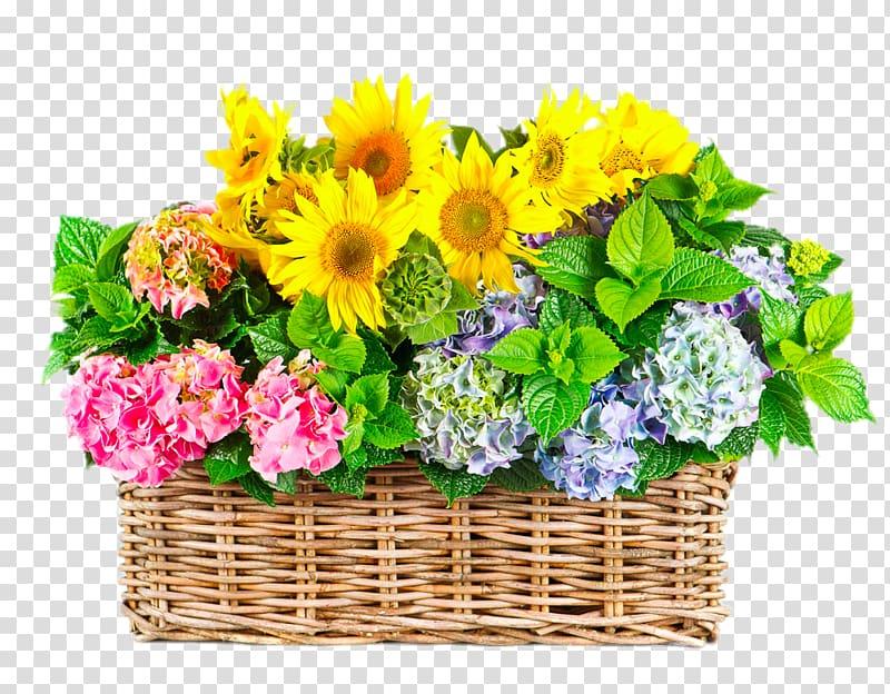Flower Gratitude Floristry , Gerbera basket transparent.