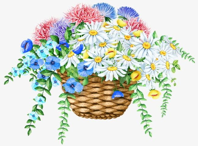 Exquisite Beautiful Basket Of Flowers PNG, Clipart, And.