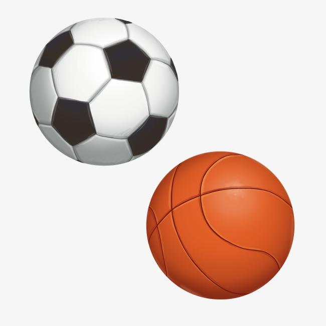 Basketball And Football Clipart.