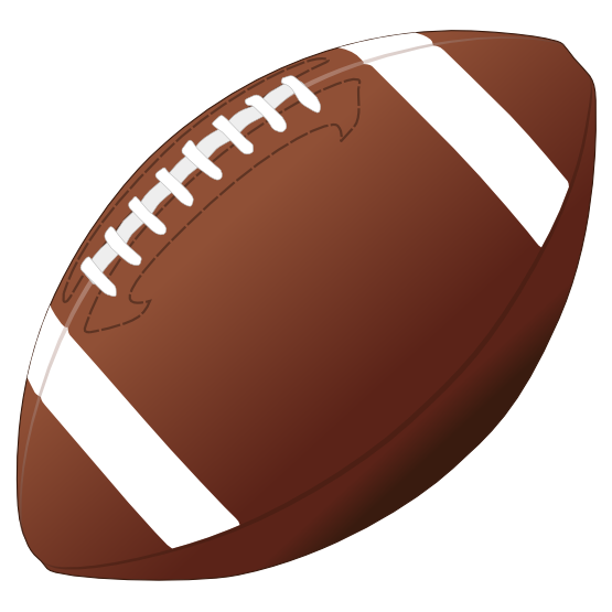 Football Clipart Black And.