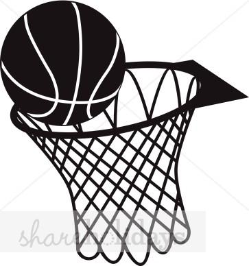 1349 Basketball Hoop free clipart.