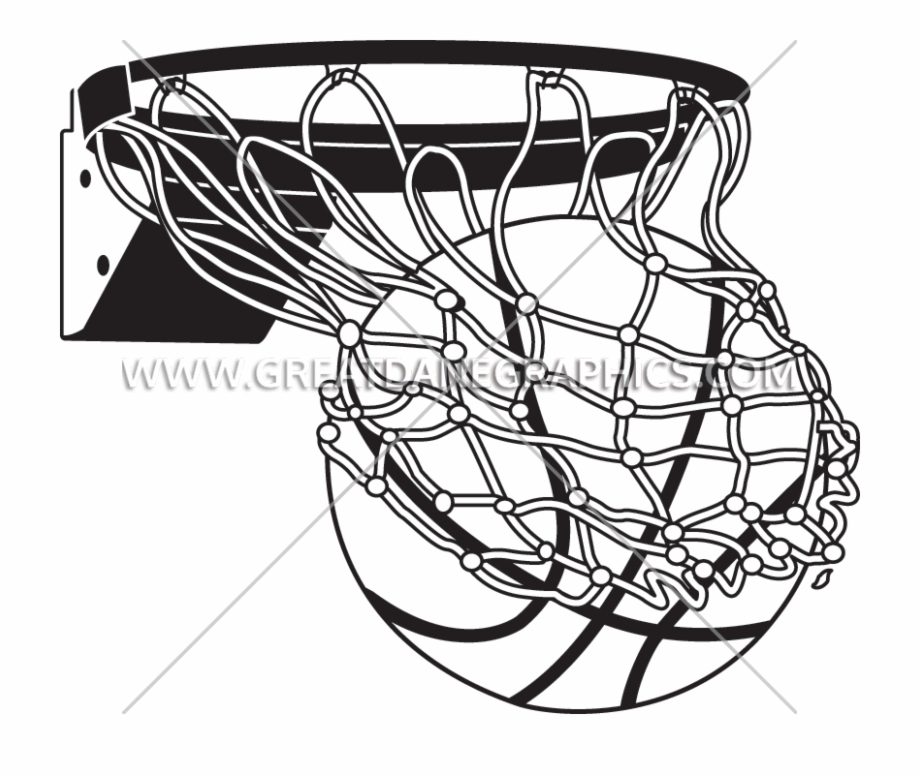 White Drawing Basketball.