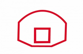 Basketball Ring And Board Clipart.