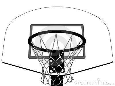 Black And White Basketball Backboard Clipart#2196392.