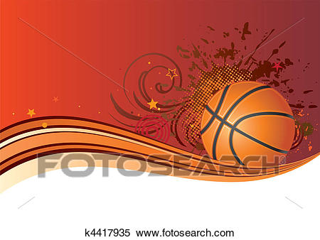 Basketball background Clipart.