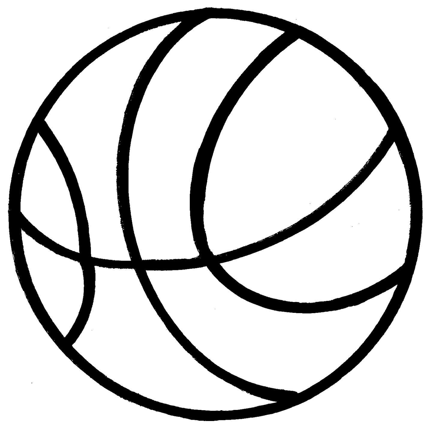 Basketball ball clipart #7