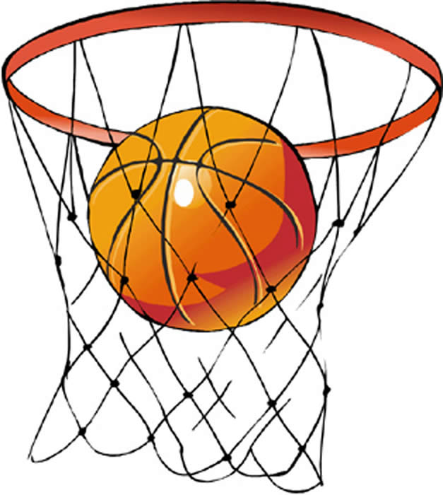 Basketball basket clipart #7