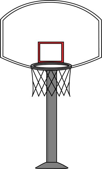 Clipart basketball hoop.