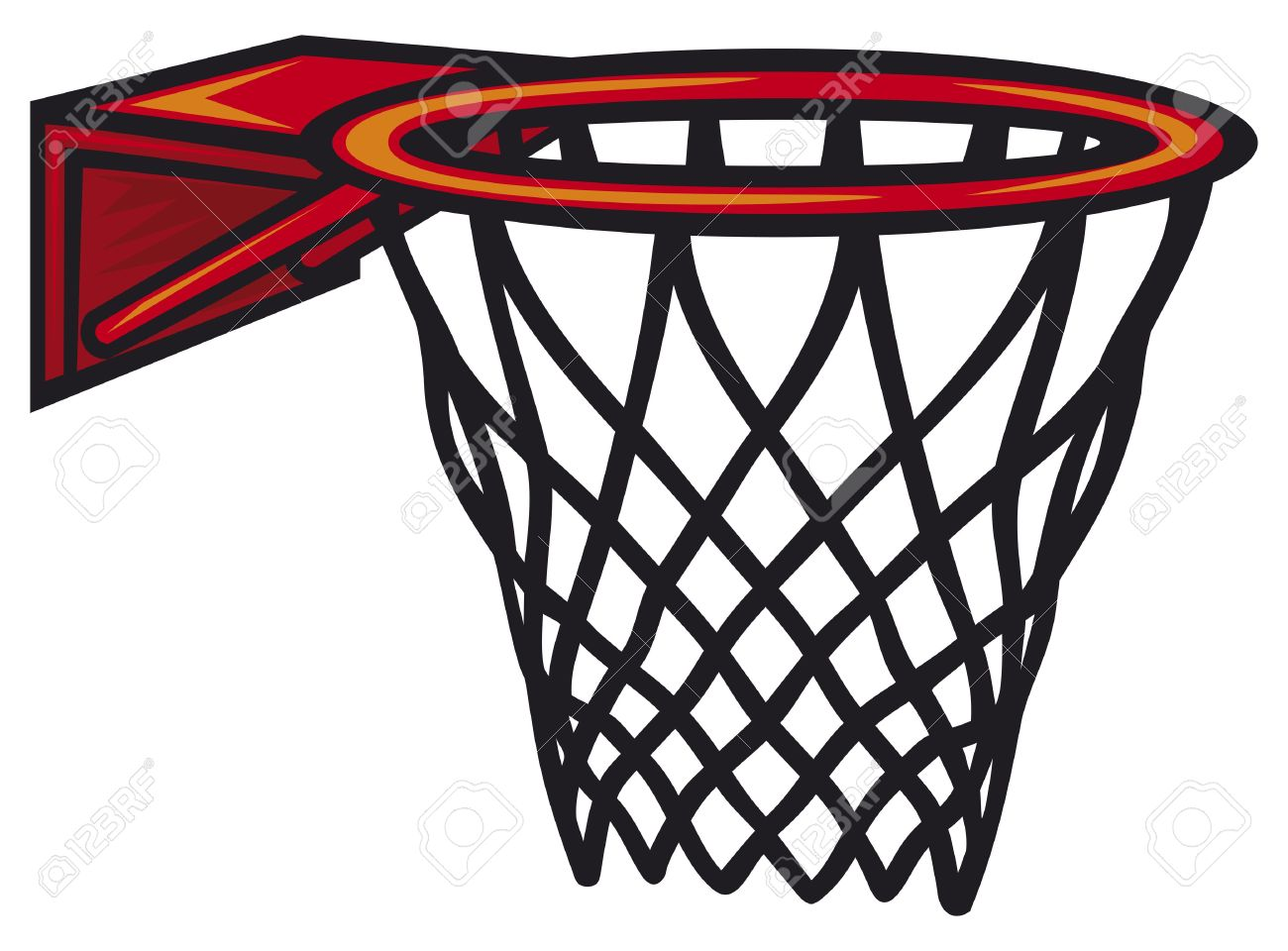 Basketball Hoop. Vector Illustration. Royalty Free Cliparts.