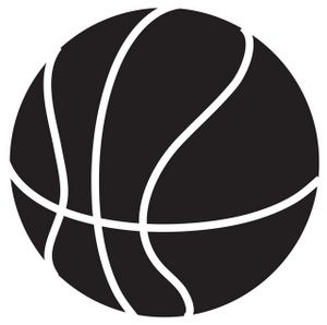 Basketball Clip Art Black And White.