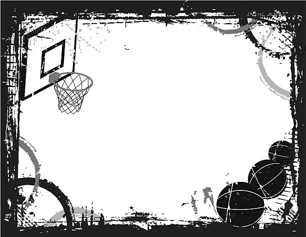 Best Basketball Border Illustrations, Royalty.