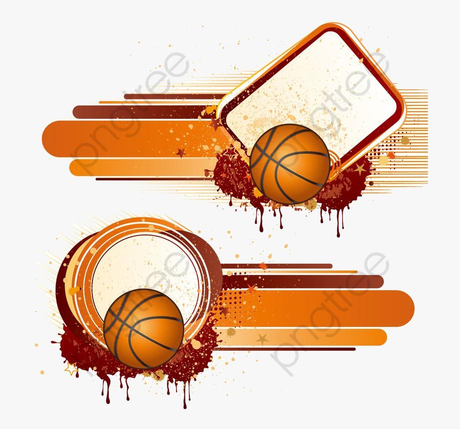 Basketball Clipart Border.
