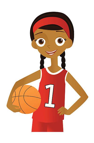 Best Girls Basketball Illustrations, Royalty.