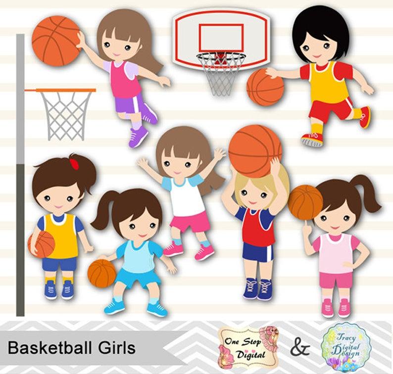 Digital Girls Basketball Clipart, Girl Basketball Digital Clip Art, Sport  Clipart, Girls Sport Digital Clip Art, Sport Girls Clipart 0258.