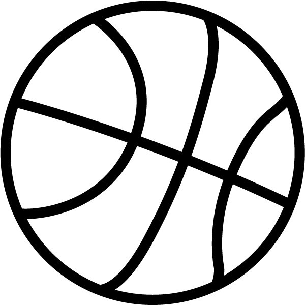 Black And White Basketball Clipart Basketball Black And White within.