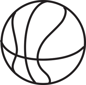 Basketball Clipart Cool And Opulent Black White Astounding Png.