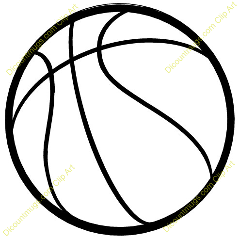 Basketball Clipart Black And White Png.
