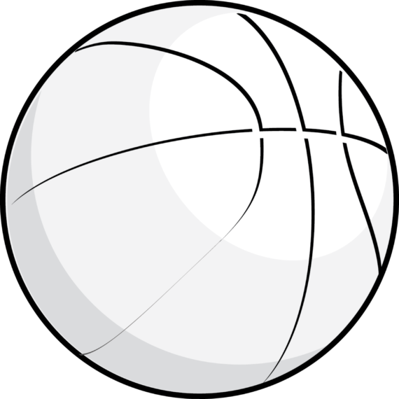 Free Clip art of Basketball Clipart Black and White #484 Best.