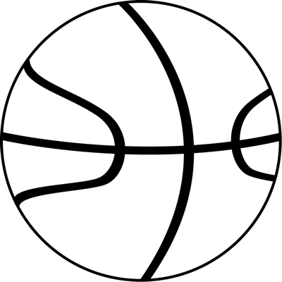 Basketball Ball Clipart Black And White.
