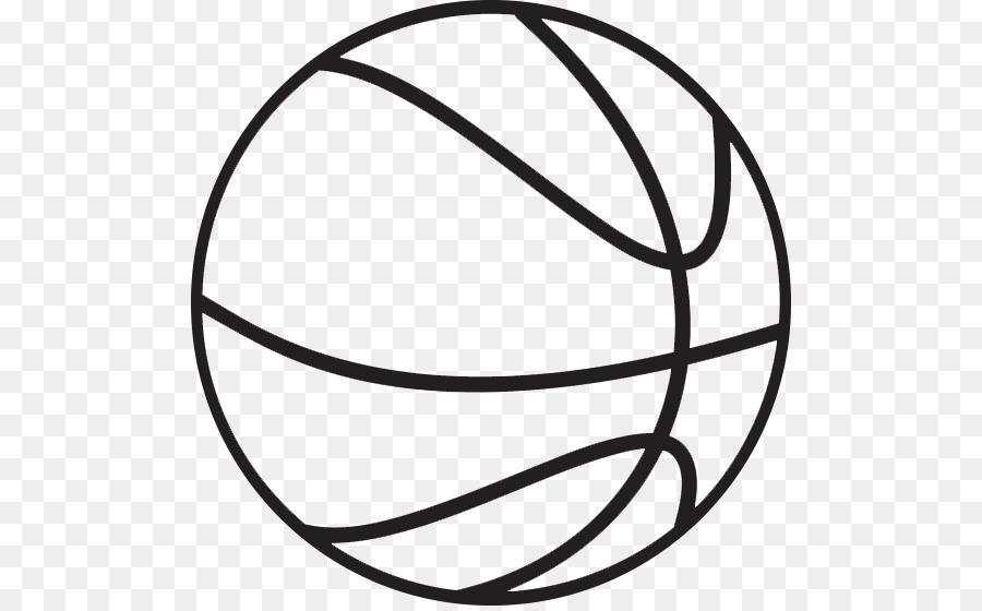 Outline of basketball Clip art.