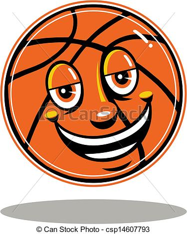 Clipart Vector of cute wildcat with basketball csp14001556.