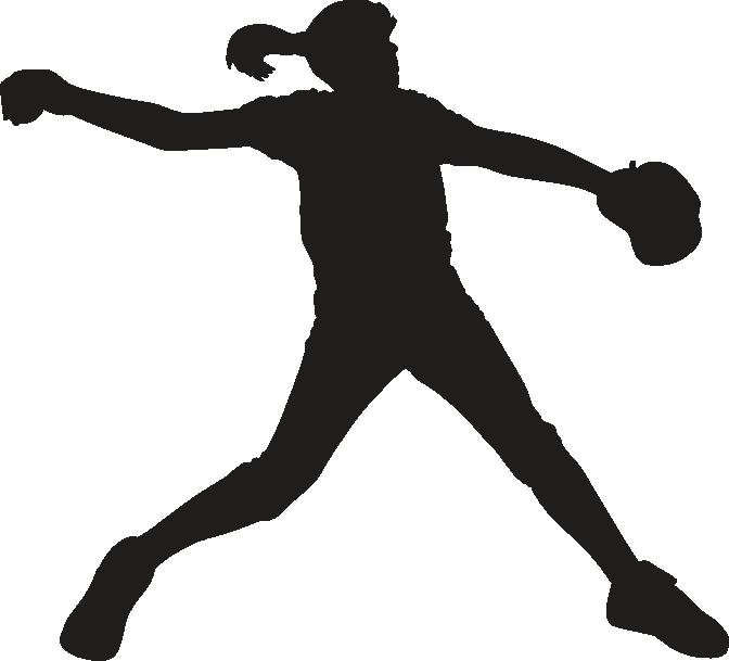 Fastpitch softball Pitcher Clip art.