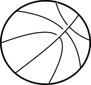 black and white basketball template.