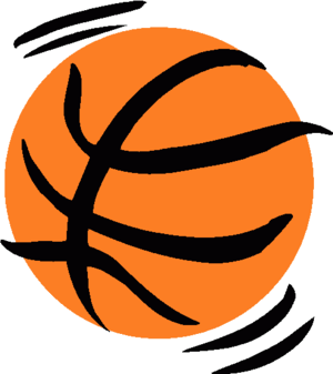 Basketball Free Clip Art Black And White Clipart Transparent Png.