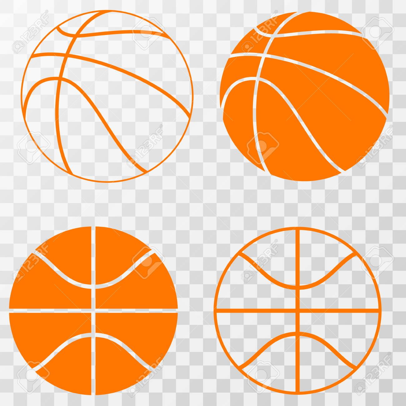 Basketball icons set . Vector on transparent background » Clipart.