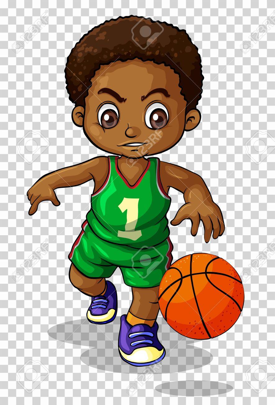 Male basketball player on transparent background illustration.