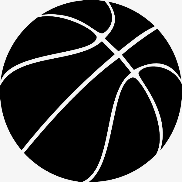 Basketball, Basketball Clipart, Black PN #131106.