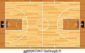 Basketball Court Clip Art.