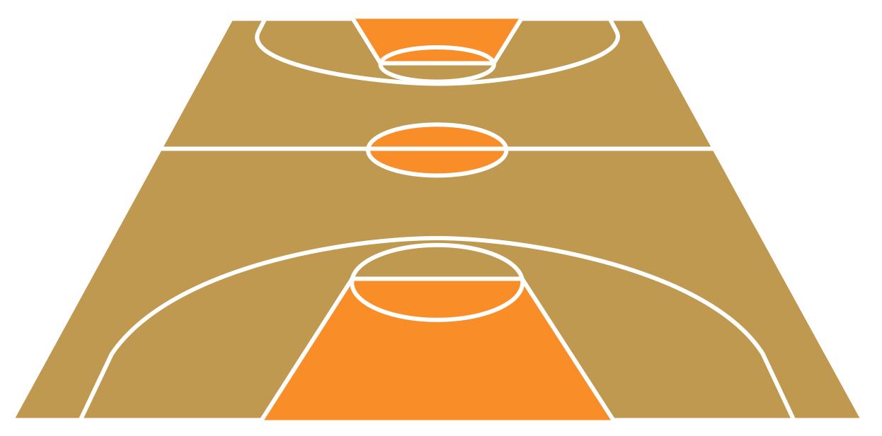 Best Basketball Court Clipart #5108.