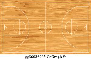 Basketball Court Floor Clip Art.