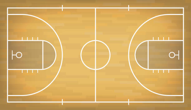 Best Basketball Court Illustrations, Royalty.