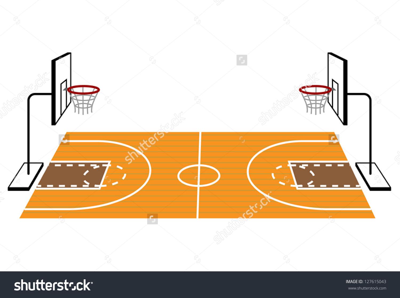 59+ Basketball Court Clipart.