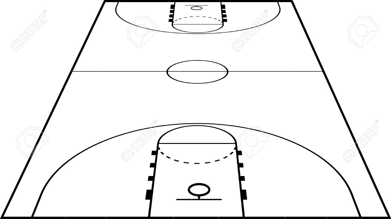 Basketball Court Field Ground Royalty Free Cliparts, Vectors, And.