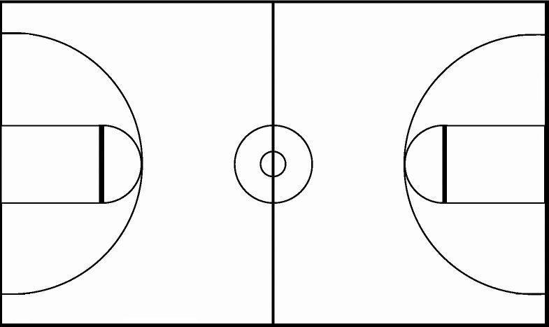 Free Basketball Court Black And White, Download Free Clip.