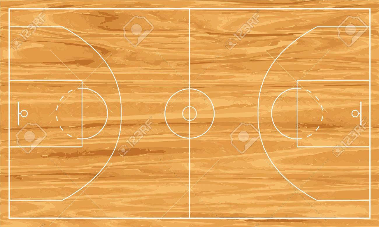 Free Basketball Court Clipart.