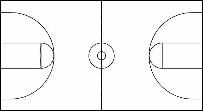 Free Basketball Court Clipart Black And White, Download Free.