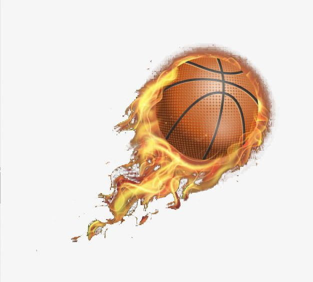 Fire Realistic Basketball PNG, Clipart, Basketball.