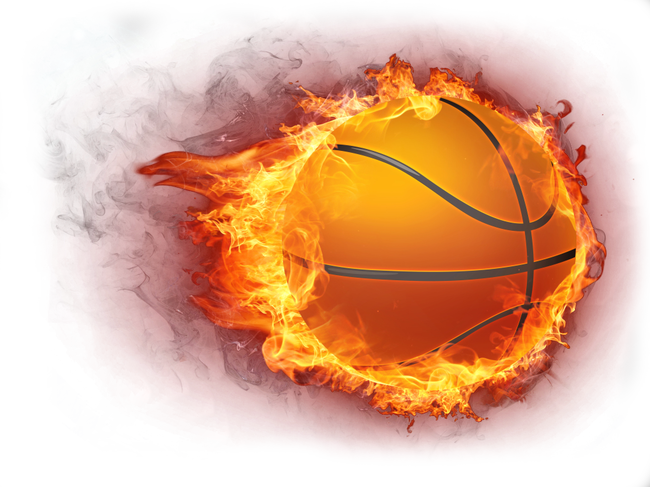 Basketball Fire Icon.