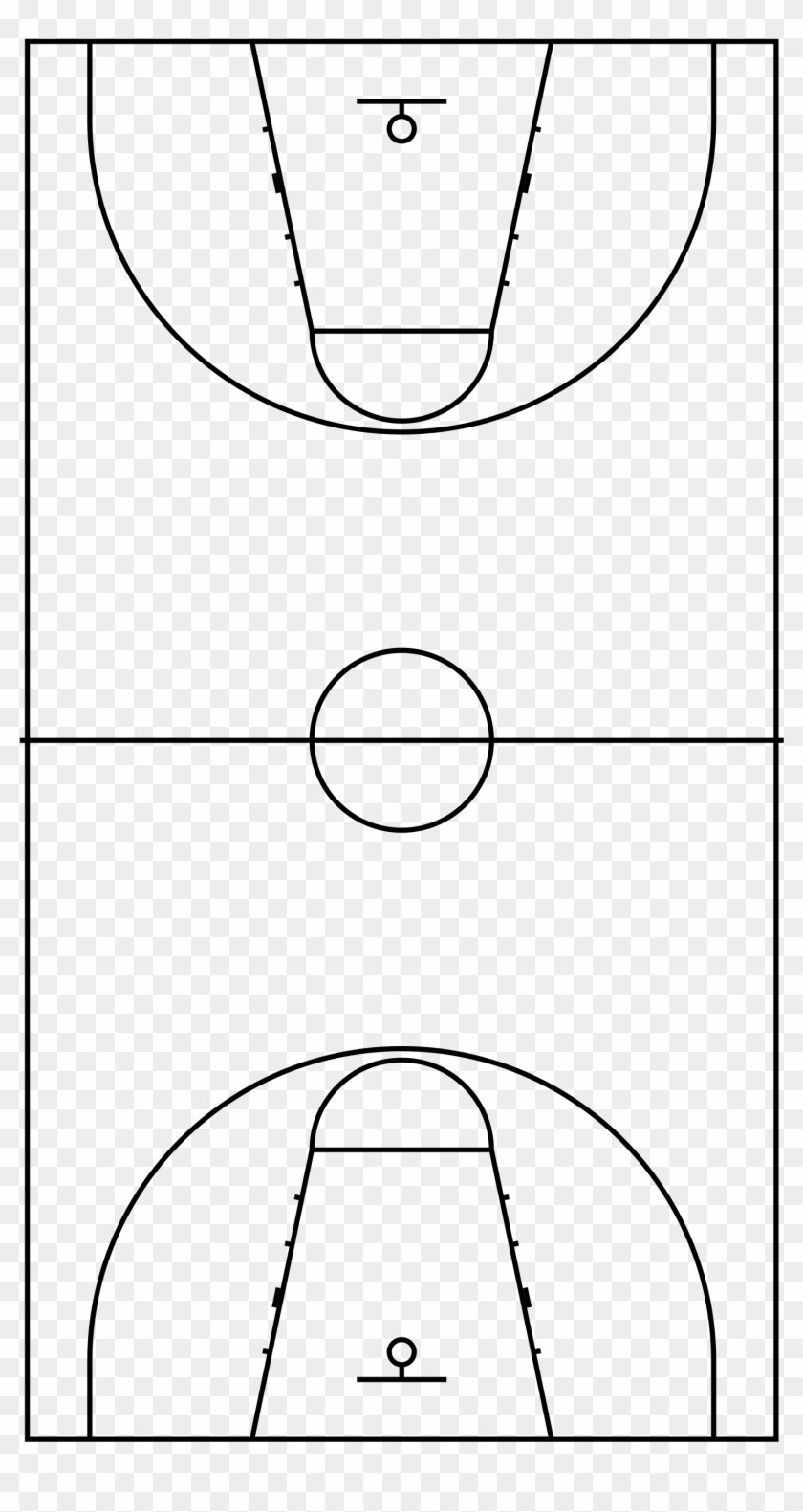 Basketball Court Dimensions No Label.