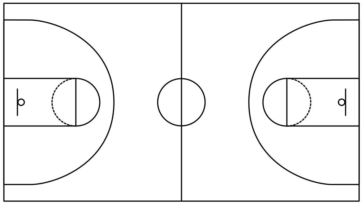 Best Basketball Court Clipart #5105.