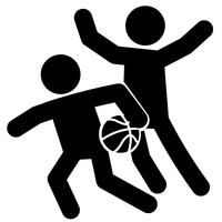 Basketball Silhouette Free Vector Art.