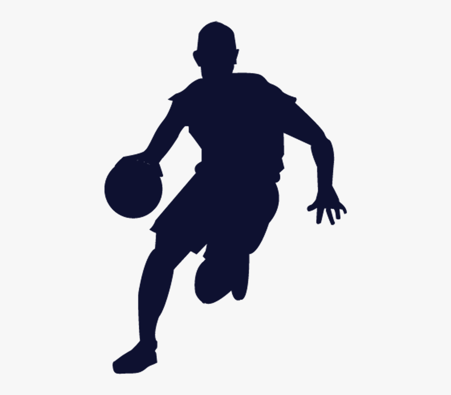 Transparent Basketball Player Silhouette Png.