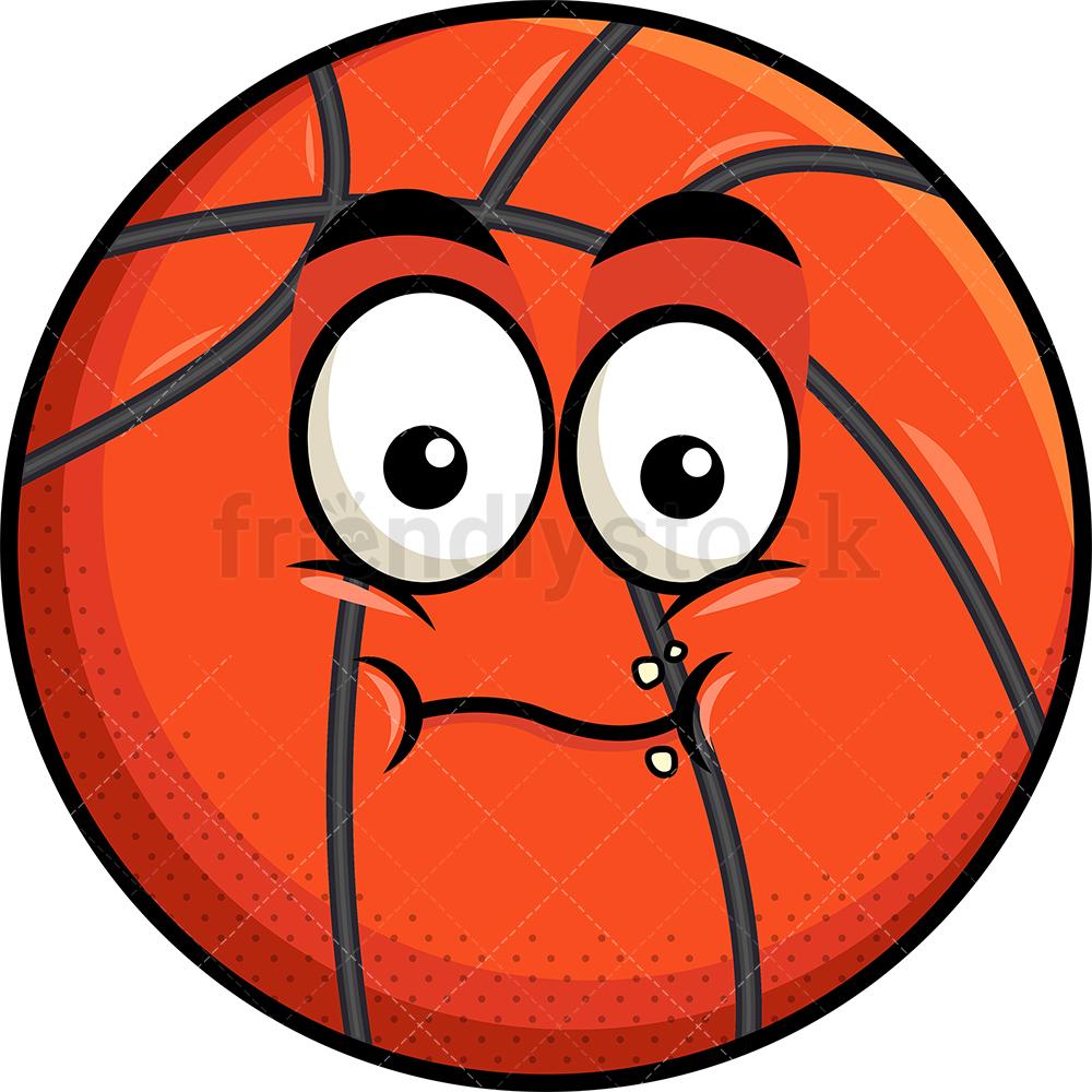 Chewing Basketball Emoji.