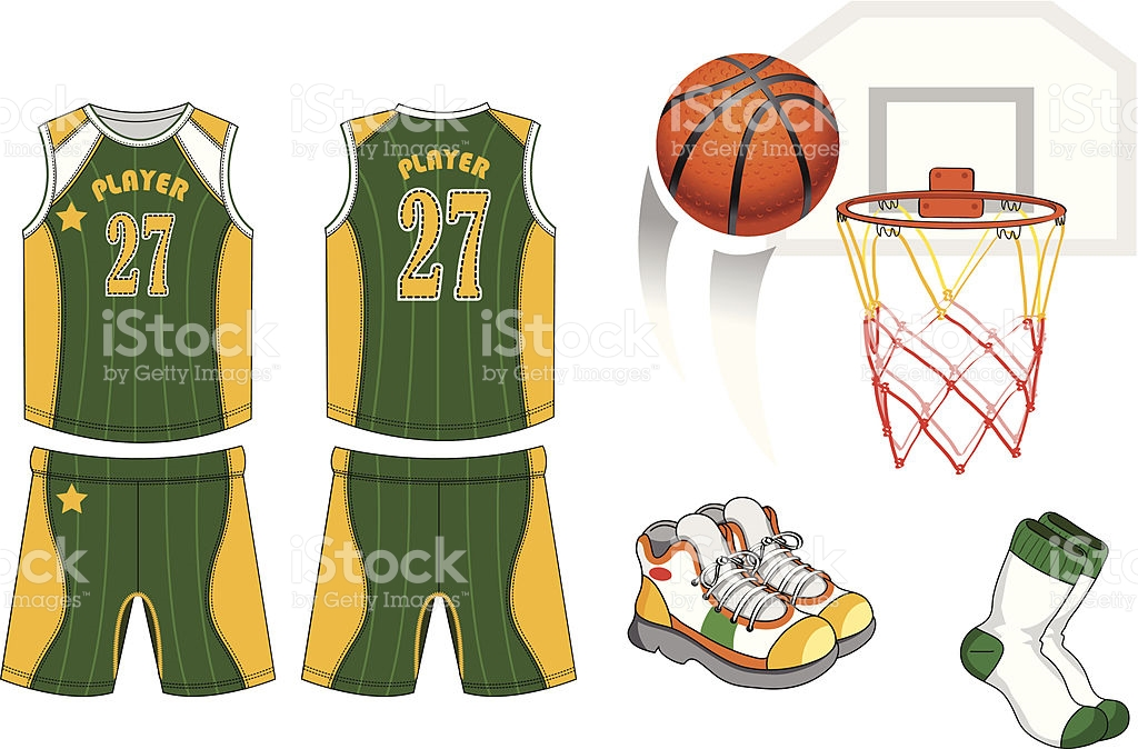 Basketball Jersey Back Clip Art, Vector Images & Illustrations.